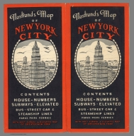 Covers: Nostrand's map of New York City