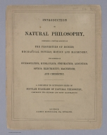Text/Title Page: introduction to natural philosophy