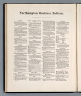 Text: Northampton business notices