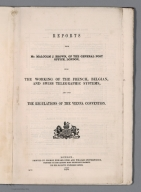 Title Page: Reports from Mr. Malcolm J. Brown of the General Post Office, London