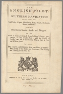 Title Page: The English pilot for the Southern navigation
