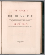 Title Page: Sun pictures of Rocky Mountain scenery