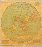 The Air Age Map of the World centred on London.