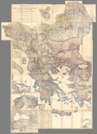 Composite Map: Topographical Map Greece, Turkey in Europe, the Archipelago and Part of Asia Minor.