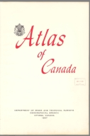 Title Page: Atlas of Canada. Department of Mines and Technical Surveys, Geographical Branch, Ottawa, Canada, 1957.