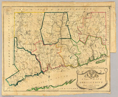 A Correct Map of Connecticut.