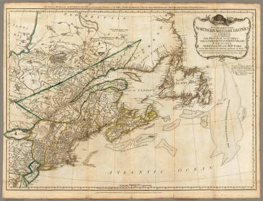 A General Map of the Northern British Colonies in America.