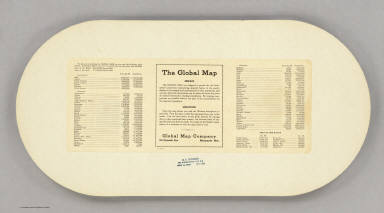 (Verso of) The Global Map.