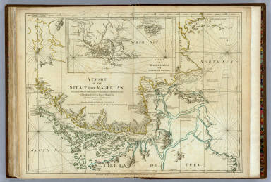 Chart Of The Straits Of Magellan.