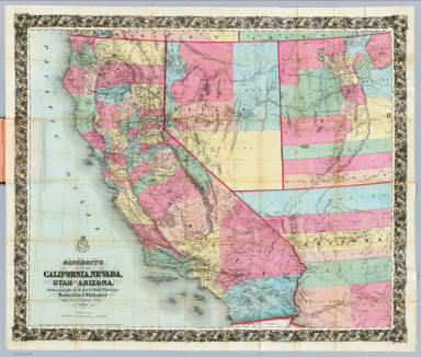Bancroft s Map California Nevada Utah And Arizona David