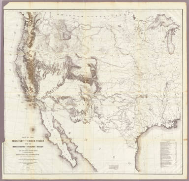 Map Of The Territory Of The United States From The Mississippi To The Pacific.