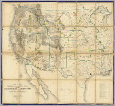 Map Of The Territory Of The United States From The Mississippi River To The Pacific Ocean.