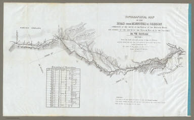 Map Of The Road From Missouri To Oregon ... Section I.