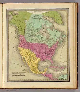 Map Of Notth America North America. / Greenleaf, Jeremiah / 1840
