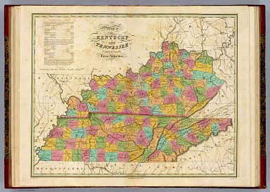 Map of Kentucky and Tennessee.