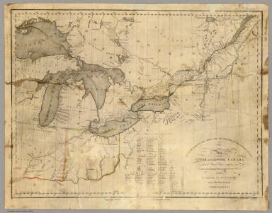 Map Of Upper United States And Lower Canada This map of Upper and Lower Canada and United States.   David