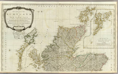 A new and correct map of Scotland or North Britain (Northern section)