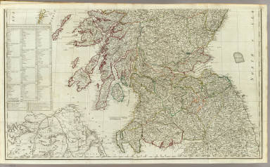 A new and correct map of Scotland or North Britain (Southern section)