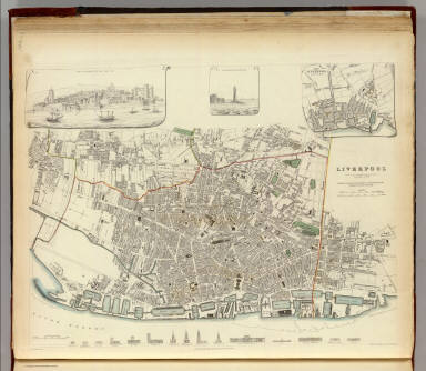 Liverpool On The Map Of England.Browse All Images Of Liverpool 28england 29 David Rumsey