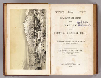 Title Page: Exploration and survey of the Valley of the Great Salt Lake of Utah.