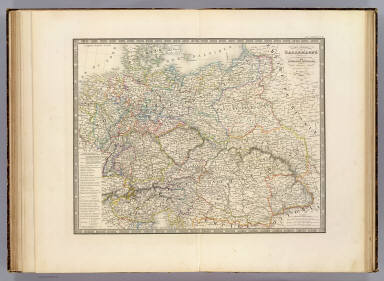 Browse All Atlas Map Of Austria And Germany From 1850 David