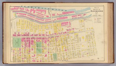 Manchester, N.H., Ward 2-4, 5, 7. - David Rumsey Historical Map ...
