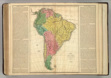 Map Of America 1820.Browse All Atlas Map Of South America From 1820 David Rumsey