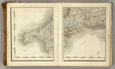Sheets 1-2. (Cary's England, Wales, and Scotland).