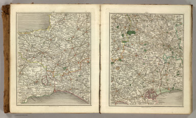 Sheets 13-14. (Cary's England, Wales, and Scotland).