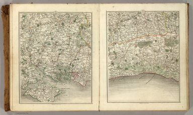 Sheets 15-16. (Cary's England, Wales, and Scotland).