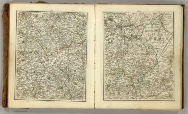 Sheets 33-34. (Cary's England, Wales, and Scotland).