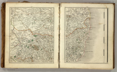 Sheets 35-36. (Cary's England, Wales, and Scotland).