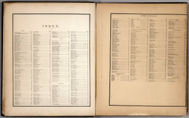(Table of Contents) Index. Index - continued.