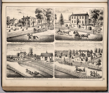 View: Farm Residences of Samuel Bradfield, Curtis Cadwell, etc., Adams County, Illinois.