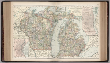 Browse all atlas map of michigan david rumsey historical map appleton d co map of michigan and wis 1891 world atlas gumiabroncs Gallery