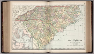 Browse all atlas map of north carolina david rumsey historical map of north carolina and south carolina 89 gumiabroncs Image collections