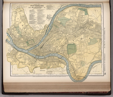 Map of Pittsburg and Allegheny, 95