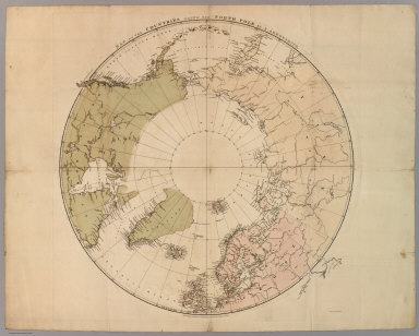 Map of the Countries Round the North Pole