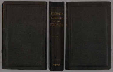 Covers: Blodget's Climatology of the United States