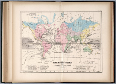 The river systems and ocean currents