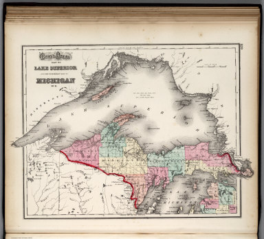 Browse all atlas map of lake superior david rumsey historical lake superior and the northern part of michigan freerunsca Choice Image