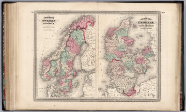 Sweden and Norway. Denmark with Sleswick and Holstein.