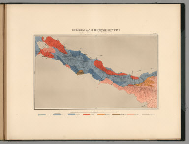 Plate 13. Geological Map of the Toyabe (Toiyabe) Mountains.