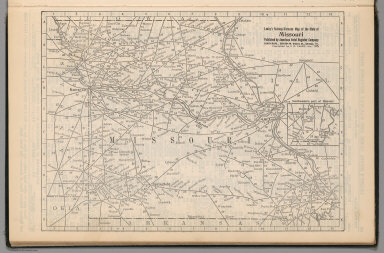 (Continues) Railway Distance Map of the State of Missouri
