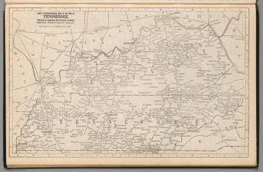 Railway Distance Map of the State of Tennessee
