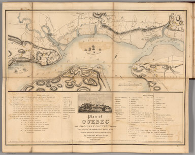 Plan of Quebec and Adjacent Country.