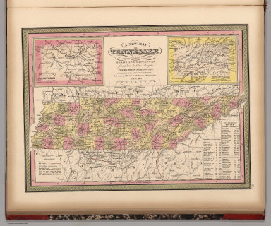 New Map of Tennessee with its Canals, Roads & Distances
