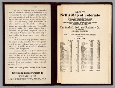 Index: Index to Nell's Map Of Colorado