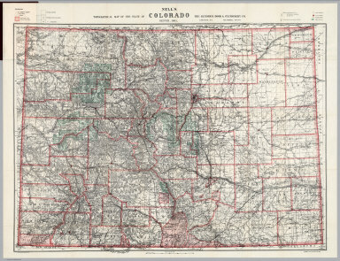 Topographical Map Of The State Of Colorado