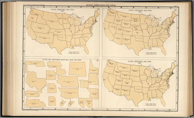 Plate 64. States, Territories and Cities, 1860 - 1880.